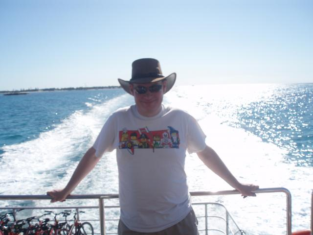 Me on the Rottnest ferry